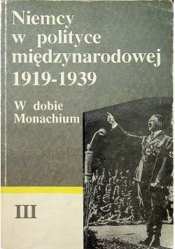 Niemcy w Polsce międzynarodowej 1919 1939 tom III