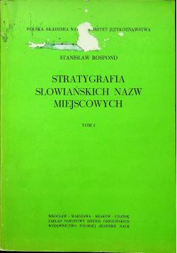 Stratygrafia słowiańskich nazw miejscowych tom 2