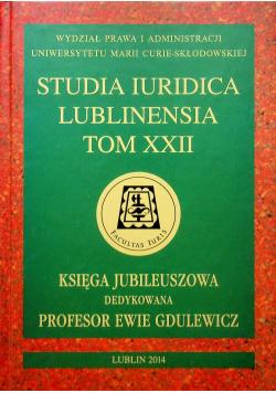 Studia Iuridica Lublinensia Tom XXII