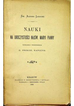 Nauki na uroczystości Najśw Maryi Panny 1895 r