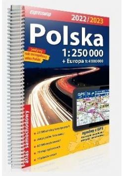 Atlas samochodowy Polska 2022/2023 1:250 000
