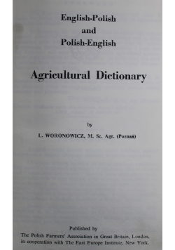 Agricultural Dictionary