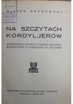 Na szczytach Kordyljerów 1935 r.