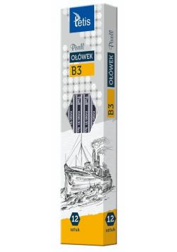 Ołówek PIXELL heksag.twar.B3 12szt. KV060-B3