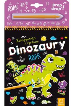 Dinozaury. Zdrapywanka z rysikiem