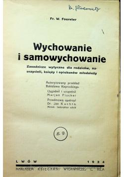 Wychowanie i samowychowanie  1934 r