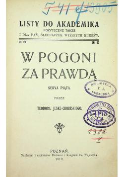 W pogoni za prawdą 1910 r