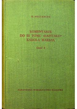 Komentarze do III tomu Kapitału Karola Marksa część 1