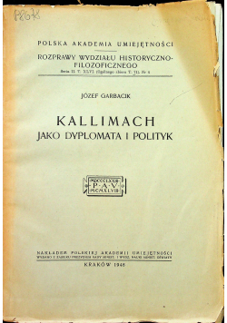 Kallimach jako dyplomata i polityk 1948 r.