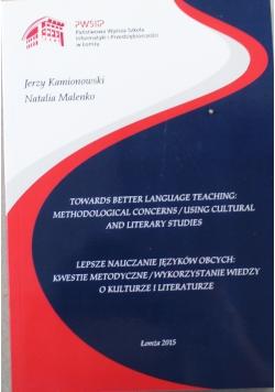 Lepsze nauczanie języków obcych kwestie metodyczne wykorzystanie wiedzy o kulturze i literaturze