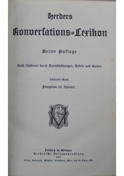 Konoerlations lexikon tom VII  1907r.