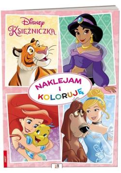 Disney Księżniczka. Naklejam i Koloruję
