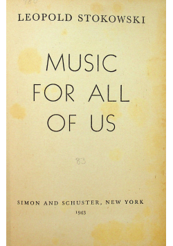 Music for all of us 1943 r