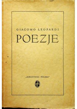 Leopardi poezje 1938 r
