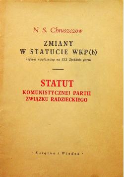 Zmiany w statucie WKP(b)