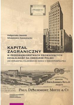 Kapitał zagraniczny w przedsiębiorstwach prowadzących działalność na obszarze Polski