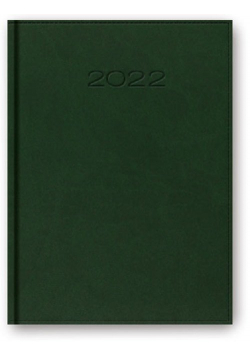 Kalendarz 2022 A5 dzienny z registrem oprawa vivella zielony