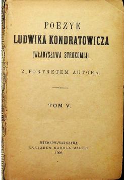 Poezye Ludwika Kondratowicza 1908r 2 tomy