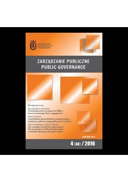 Zarządzanie Publiczne 4(38) 2016