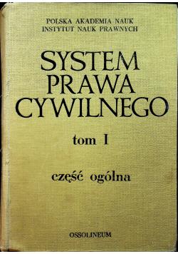 System prawa cywilnego tom I