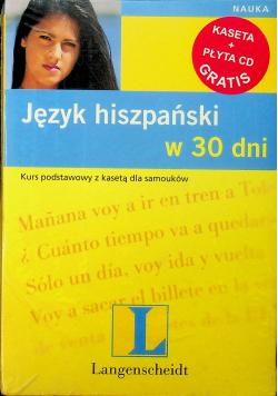 Język hiszpański w 30 dni Kaseta plus płyta CD