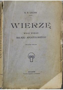 Wierzę Wolny wykład 1914 r.