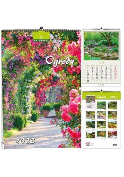 Kalendarz 2022 B3 7 plansz Ogrody