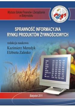 Sprawność informacyjna rynku produktów żywnościowych