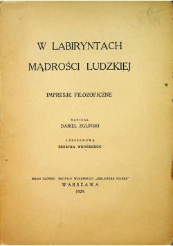 W labiryntach mądrości ludzkiej  1929 r