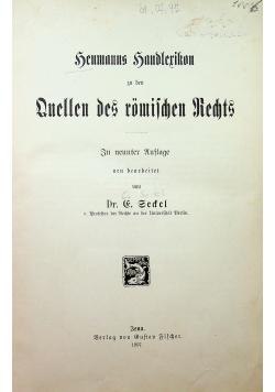 Handlexikon zu den Quellen des römischen Rechts 1907r