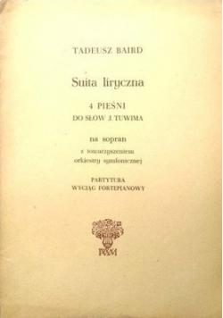 Suita liryczna 4 pieśni do słów Juliana Tuwima na sopran