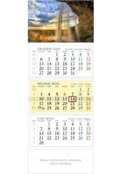 Kalendarz 2022 trójdzielny KT 06 Wodospad