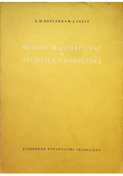 Metody matematyczne w technice chemicznej