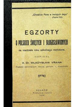Egzorty o Polskich Świętych i Błogosławionych 1930 r.