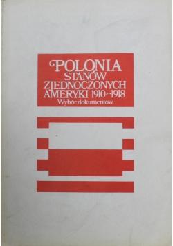 Polonia stanów zjednoczonych Ameryki 1910 do 1918 wybór dokumentów