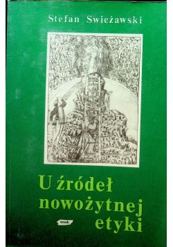 U źródeł nowożytnej etyki autograf Swieżawski