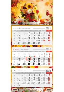 Kalendarz 2022 trójdzielny Bukiet