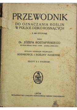 Przewodnik do oznaczania roślin w Polsce dziko rosnących 1935 r.