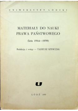 Materiały do nauki Prawa Państwowego