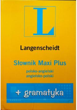 Langenscheidt Słownik Maxi Plus polsko angielski angielsko polski