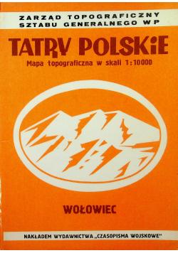 Tatry Polskie Mapa topograficzna w skali 1 10 000 Wołowiec