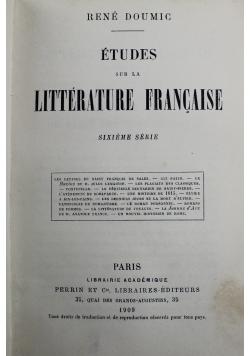 Etudes sur la Litterature Francaise 1909 r.