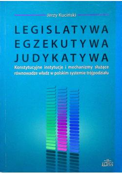 Legislatywa egzekutywa judykatywa
