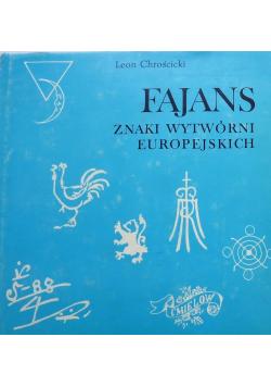 Fajans znaki wytwórni europejskich