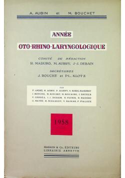 Annee Oto Rhino Laryngologique