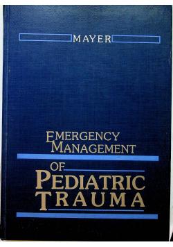 Emergency Management od Pediatric Trauma