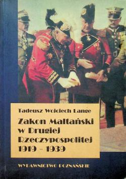 Zakon Maltański w Drugiej Rzeczypospolitej 1919 1939