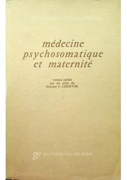 Medecine psychosomatique et maternite