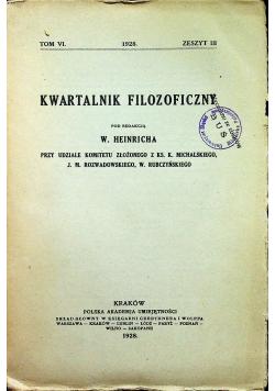 Kwartalik filozoficzny tom VI zeszyt III 1928r