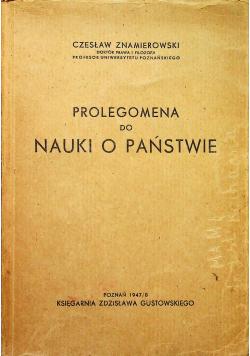 Prolegomena do nauki o Państwie 1947r